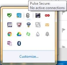 Pulse Secure System Tray Icon
